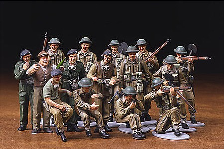 Tamiya WWII British Infantry European Campaign -- Plastic Model Military Figure Kit -- 1/48 Scale -- #32526