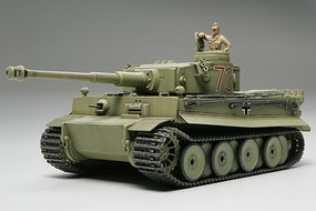 Tamiya Tiger I Initial Tank Africa Corps Plastic Model Military Vehicle Kit 1/48 Scale #32529