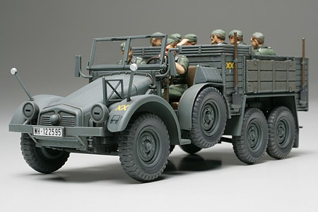 Tamiya Krupp Protze 6x4 L2H143 (Kfz 70) Truck Plastic Model Military Vehicle Kit 1/48 Scale #32534