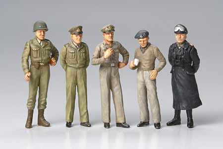 Tamiya Famous Generals Soldiers Leaders -- Plastic Model Military Figure Kit -- 1/48 Scale -- #32557