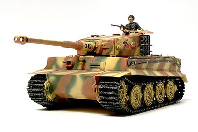 Tamiya German Tiger I Late Production Tank -- Plastic Model Military Vehicle Kit -- 1/48 Scale -- #32575