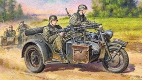 German Motorcycle and Sidecar WWII Plastic Model Motorcycle Kit 1/48 Scale #32578