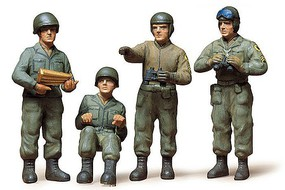 Tamiya US Army Tank Crew Soldiers Plastic Model Military Figure Kit 1/35 Scale #35004