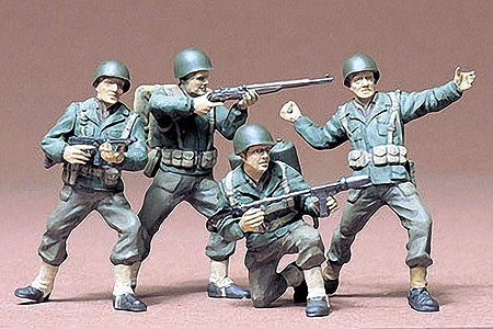 Tamiya US Army Infantry Crew Soldiers Set -- Plastic Model Military Figure Kit -- 1/35 Scale -- #35013