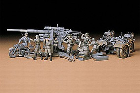 Tamiya German 88mm Gun Flak 36/37 Plastic Model Military Diorama Kit 1/35 Scale #35017