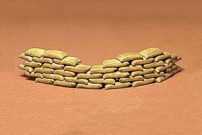 Sand Bag Set Plastic Model Military Diorama Kit 1/35 Scale #35025
