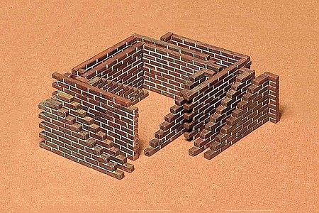 Tamiya Brick Wall Set -- Plastic Model Military Diorama Kit -- 1/35 Scale -- #35028
