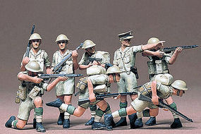 Tamiya British 8th Army Infantry Soldier Set Plastic Model Military Figure Kit 1/35 Scale #35032