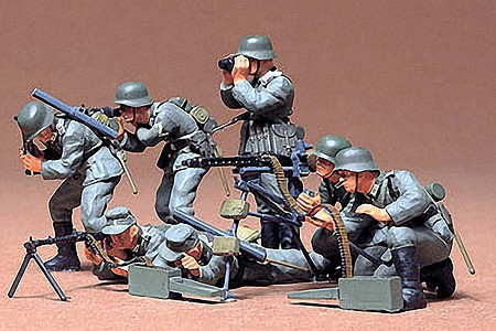 Tamiya German Machine Gun Troop Soldier Set Plastic Model Military Figure Kit 1/35 Scale #35038