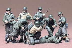 US Infantry Euro Theater Soldier Set Plastic Model Military Figure Kit 1/35 Scale #35048