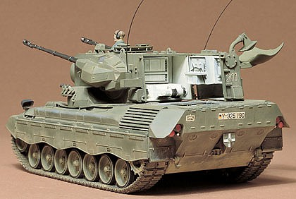 Tamiya West German Lfakpanzer Gepard Tank Plastic Model Military Vehicle Kit 1/35 Scale #35099
