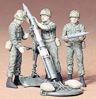 Tamiya U.S. 107mm Mortar & Crew Plastic Model Military Diorama Kit 1/35 Scale #35119