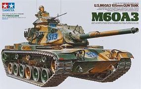 Tamiya US M60A3 105mm Gun Tank Plastic Model Military Vehicle Kit 1/35 Scale #35140