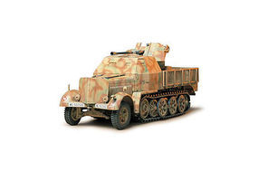 Tamiya German Flak 37 Sd.kfz.7/2 Halftrack Plastic Model Military Vehicle Kit 1/35 Scale #35144
