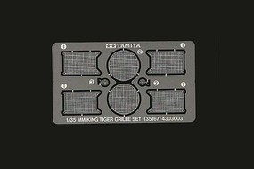 Tamiya German King Tiger Photo-Etched Grille Plastic Model Vehicle Accessory Set 1/35 Scale #35167