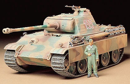 Tamiya Panther Type G Early Tank Plastic Model Military Vehicle Kit 1/35 Scale #35170