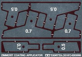 Tamiya Zimmerit Coating Applicator Photo Etch Plastic Model Vehicle Decal Set 1/35 Scale #35187