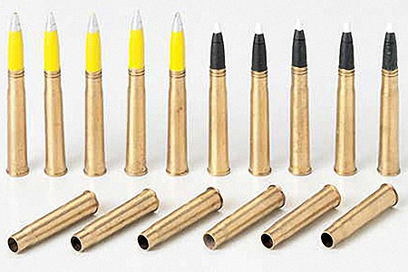 Tamiya Tiger I Brass 88mm Projectiles -- Plastic Model Weapon Kit -- 1/35 Scale -- #35189