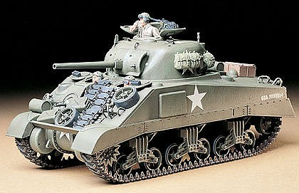 Tamiya US M4 Sherman Medium Tank -- Plastic Model Military Vehicle Kit -- 1/35 Scale -- #35190