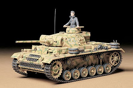 Tamiya German Pz.Kpfw III Ausf. Tank Plastic Model Military Vehicle Kit 1/35 Scale #35215