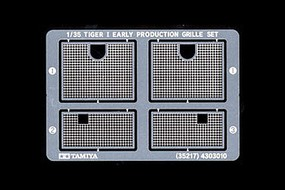 Tamiya German Tiger I Photo-Etched Grille Plastic Model Military Diorama Set 1/35 Scale #35217