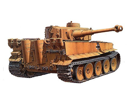 Tamiya German Tiger I Initial Tank Plastic Model Military Vehicle Kit 1/35 Scale #35227