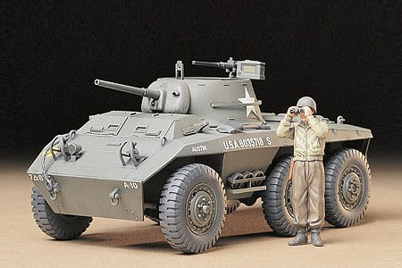 Tamiya US M8 Lt. Track Greyhound -- Plastic Model Military Vehicle Kit -- 1/35 Scale -- #35228