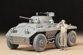 Tamiya US M8 Lt. Track Greyhound Plastic Model Military Vehicle Kit 1/35 Scale #35228