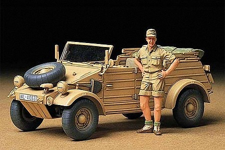 Tamiya German Kubelwagen Type 82 Africa Plastic Model Military Vehicle Kit 1/35 Scale #35238