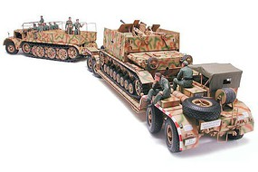 Tamiya German 18 Ton Famo & Transporter Plastic Model Military Vehicle Kit 1/35 Scale #35246