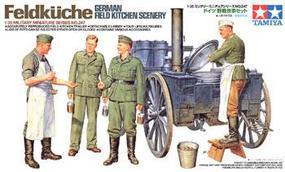 Tamiya Feldkuche German Field Kitchen Scenery Plastic Model Military Diorama Kit 1/35 Scale #35247