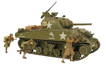 Tamiya M4A3 Sherman 75mm Tank -- Plastic Model Military Vehicle Kit -- 1/35 Scale -- #35250