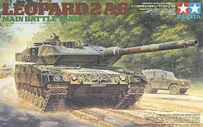 Tamiya Leopard 2 A6 Main Battle Tank Plastic Model Military Vehicle Kit 1/35 Scale #35271