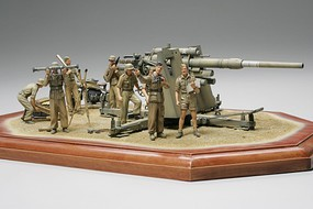 Tamiya German 88mm Gun Flak36 w/ N Afrika Soldiers Plastic Military Diorama 1/35 Scale #35283