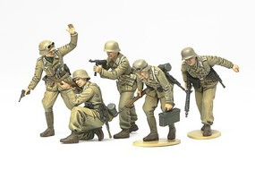 Tamiya German Africa Corps Infantry Set Plastic Model Military Diorama Kit 1/35 Scale #35314