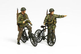 Tamiya British Paratroopers Set w/Bicylcles Plastic Model Military Figures Kit 1/35 Scale #35333