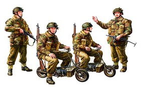 Tamiya British Paratroopers w/Small Motorcycle Plastic Model Military Figures 1/35 Scale #35337