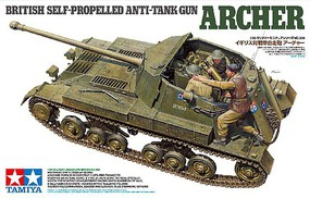 Tamiya British Anti Tank Gun Archer Self Propelled Plastic Model Military Vehicle Kit 1/35 #35356