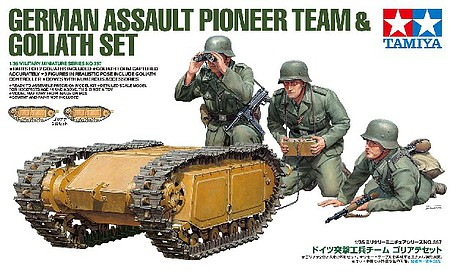 Tamiya German Assault Pioneer Team with Goliath Plastic Model Military Kit 1/35 Scale #35357