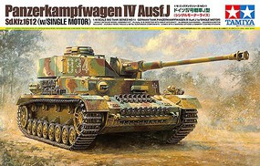 Tamiya German Pz.Kpfw IV Ausf.J with Single Motor Plastic Model Military Vehicle Kit 1/16 #36211