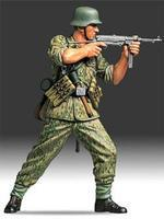 Tamiya German Elite Infantry Soldier Plastic Model Military Figure Kit 1/16 Scale #36303