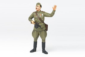 Tamiya WWII Russian Field Commander Soldier Plastic Model Military Figure Kit 1/16 Scale #36314