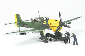 Tamiya Junkers JU87 B-2 Stuka w/Bomb Loading Set Plastic Model Airplane Kit 1/48 Scale #37008