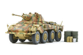 Tamiya German Armored Car Sk.Kfz 234/2 Puma Plastic Model Military Vehicle Kit 1/48 Scale #37010
