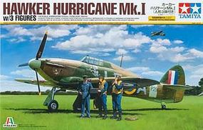 Tamiya Hawker Hurricane Mk.I w/3 Figures Aircraft Plastic Model Airplane Kit 1/48 Scale #37011