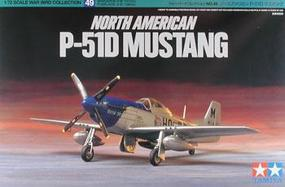 Tamiya North American P-51D Mustang Fighter Aircraft Plastic Model Airplane Kit 1/72 Scale #60749