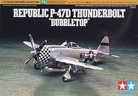 Tamiya Republic P-47D T-Bolt Bubbletop Plastic Model Airplane Kit 1/72 Scale #60770