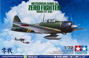 Tamiya Mitsubishi A6M3 Zero Plastic Model Airplane Kit 1/72 Scale #60785