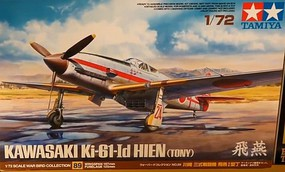 Tamiya Kawasaki Ki61Id Hien (Tony) Fighter (New Tool) Plastic Model Airplane Kit 1/72 #60789