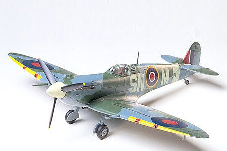 Tamiya Supermarine Spitfire VB Fighter Aircraft -- Plastic Model Airplane Kit -- 1/48 Scale -- #61033